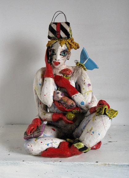 Syssifussi 2016 Keramik glasiert h 34,5 cm