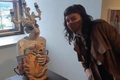 Lucy mit Besuch im Schlossmuseum